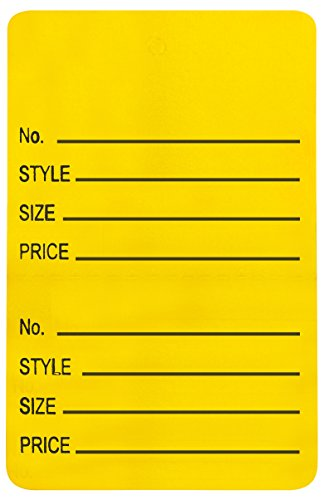 Amram Price Tags 1.25-in x 1.875-in Unstrung Perforated, Yellow, Printed No; Style; Size; Price, 1,000 Tags