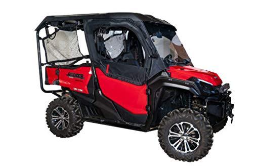Seizmik Black Framed 1/2 Upper Door Kit for 2015-2018 Honda Pioneer 1000/1000-5 Models