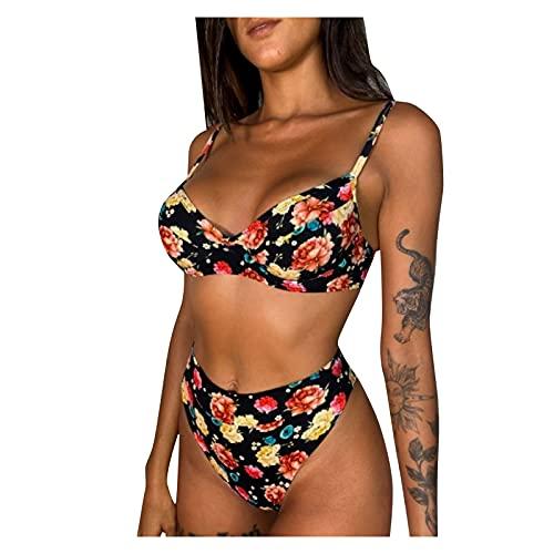 Traje De Baños Tallas Grandes, Mujeres Mini Bikini, Vestido Playa Corto, Gordita...