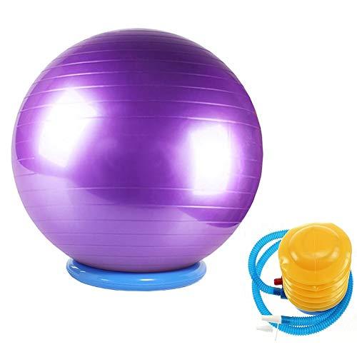 LLA Palla Fitness Pilates Palle per Esercizi per Adulti con Base, per Donne Uomini per Sedersi su Pilates con Palla...
