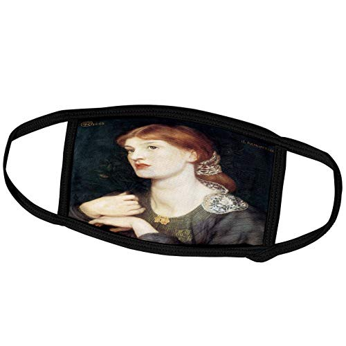 3dRose Dante Gabriel Rossetti Gesichtsmaske mit Bella e Buona