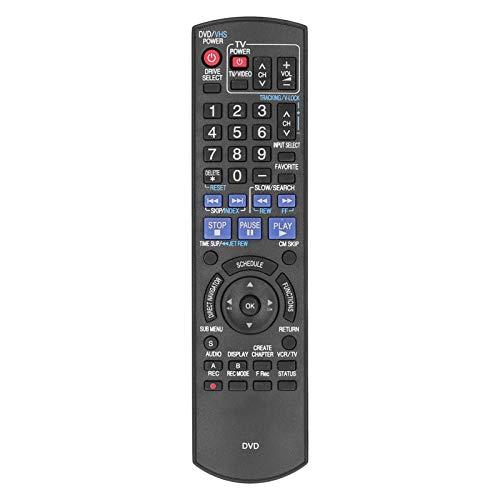 Mxzzand Controlador de Reproductor de DVD con Control Remoto de DVD pequeño para N2QAYB000197 DMR ‑ EZ485V / DMR ‑ EZ48V / DMR ‑ EZ485VK