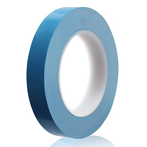 Outtybrave 25x 20x 0.15mm Cinta de refrigeración conductiva térmica de doble cara cinta adhesiva (conductiva térmica para disipador de calor LED, IC chip-set, CPU GPU, LED, Modules,SSD Unidades)