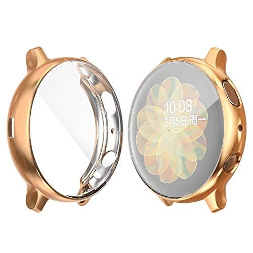 Fashion horloges Dfch for de Samsung Galaxy Kijk Active 2 40mm Hat-prince Full Coverage galvaniseren TPU Case (Zwart) (Color : Rose Gold)