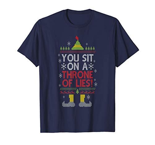Te sientas en un trono de mentiras Navidad Papá Noel falso Camiseta