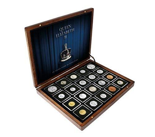 IMPACTO COLECCIONABLES Colección Premium de 20 Monedas. Queen Elizabeth