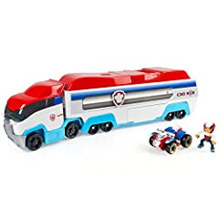 The paw Patroller is the ultimate rescue Vehicle and can transport three Paw Patrol vehicles inside, or display six vehicles when opened up! Comes with Ryder and his ATV vehicle! Store his ATV in the back of the Patroller and get ready to save advent...