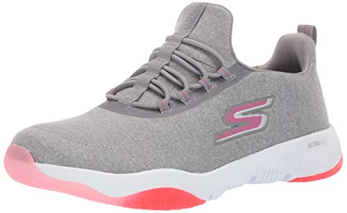 Skechers Women's GO Run TR-15190 Sneaker, Gray/Pink, 6 M US