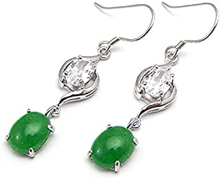 6 mm OLIVINE Gemstone plaqué or Dangle Earrings VÉRITABLE 12 mm rouge à facettes jade