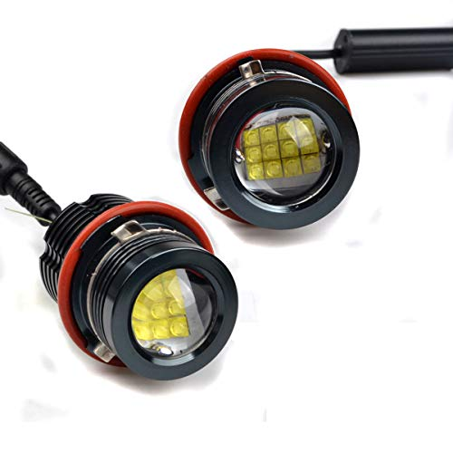 Preisvergleich Produktbild BIOENGIE Scheinwerfer 120W Angel Eyes Tagfahrlicht CREE Auto Birne für E39 E60 E87 E53 E63 E65 -Schwarz