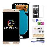 SRJTEK Ecran LCD de Remplacement pour Samsung Galaxy J7 Pro J730G/DS, J730G J730F J730GM J730DS...