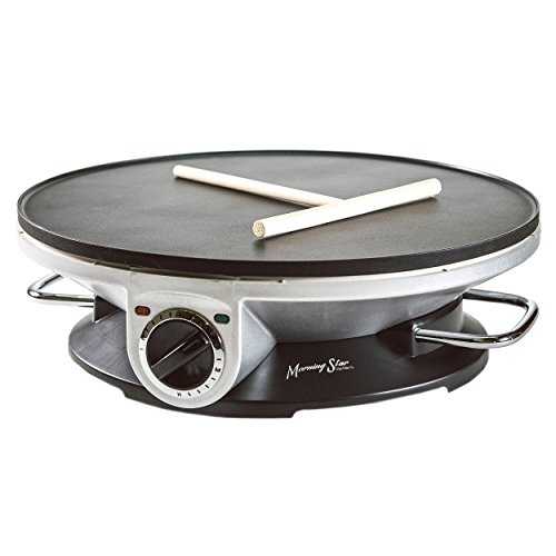 Morning Star - Crepe Maker Pro - 13 Inch Crepe Maker & Electric Griddle - Non-stick Pancake Maker