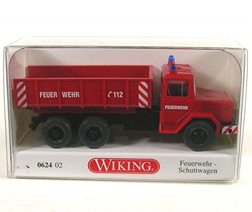 Magirus Deutz plateformes-Truck de pompiers - voiture miniature, Miniature déjà montée - Wiking 1:87