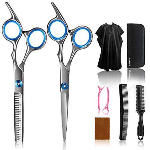 Hair Cutting Scissors Kits ,Stainless Steel Hair Cutting Shears Set Thinning Scissors Hair Scissor Professional Barber/Salon/Home Shears Kit For Men Women and Pet