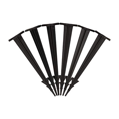 GARDENIX® TerraPEG Mini Lot de 50 piquets de Terre pour Fixation de Toile Anti-Mauvaises Herbes, ou Filet Anti-Taupe Noir
