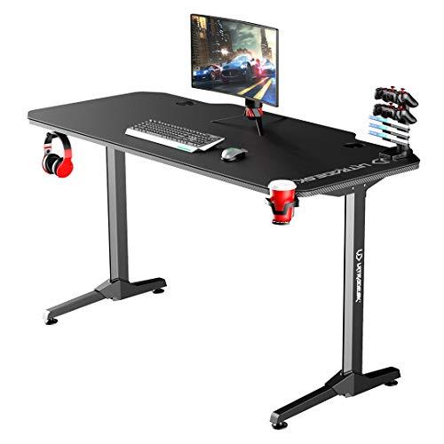 Ultradesk Frag Schwarz - Computertisch, Schreibtisch, Gaming Tisch mit Mauspad und...