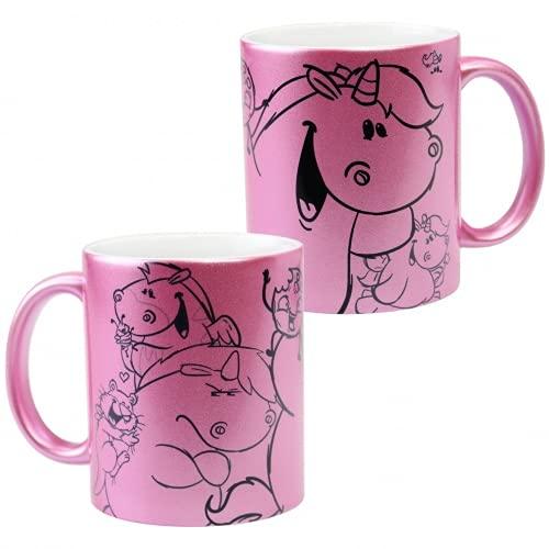 Pummel & Friends - Metallic Tasse (pink) - Glitzerweltler