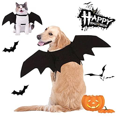 CAISANG Dog Halloween Costumes, Cat Dog Bat Costume Wings Pet Bat...