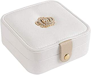 Jewelry Storage Box Necklace Ring Earrings Box Jewelry Box (Color : White)