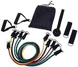 Bandas de resistencia de fitness 11pcs / Set Tubos Yoga Pull Rope Sport Fitness Gum Workout Bandas de ejercicio Gym Sport Rubber Expander