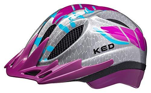 KED Meggy S/M Violet K-Star - 49-55 cm - inkl. RennMaxe Sicherheitsband - Fahrradhelm Skaterhelm MTB BMX Kinder Jugendliche