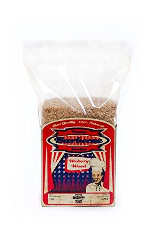 Axtschlag Räuchermehl Hickory, 1000 g XXL Packung, zum Kalträuchern und Heißräuchern, für alle Grills und Räuchergeräte geeignet, 100 % Reinholz