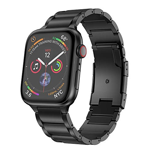 NotoCity Compatible con Correa Apple Watch Band 38/40mm 42/44mm Aleación de Titanio Robusta Pulsera Ligera Ideal para la Serie 4/3/2/1 Unisex