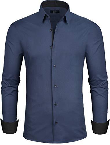 Grin&Bear Design Herren Hemd, Navy, 52, Regular, XL, SH335