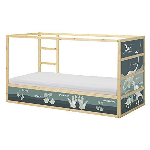 Limmaland XXL Dinosaurier Aufkleber passend für das IKEA KURA Hochbett - Möbel Nicht inklusive