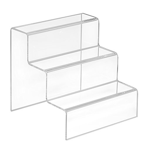 mächtig der welt Zeigis Dekorative Treppe 3 Stufen 150x150x150mm Aus klarem Acryl / Plexiglas