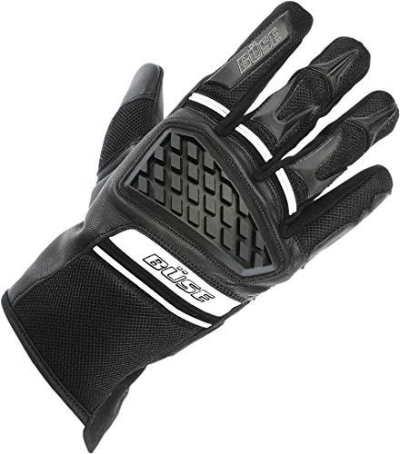 Büse Braga Motorradhandschuhe Schwarz/Weiß 11