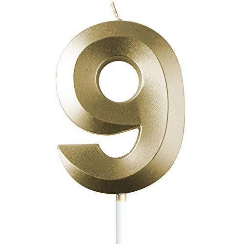 saizone Velas de Números, Velas numéricas para Tarta de cu