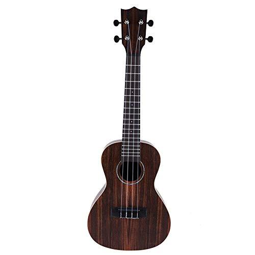 Ebony Rosewood Guitarra portátil 4 cuerdas 23