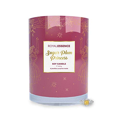 Royal Essence Sugar Plum Princess Jewellery Candle(Surprise 925 Sterling Silver Jewellery Valued at £50 to £3,000)