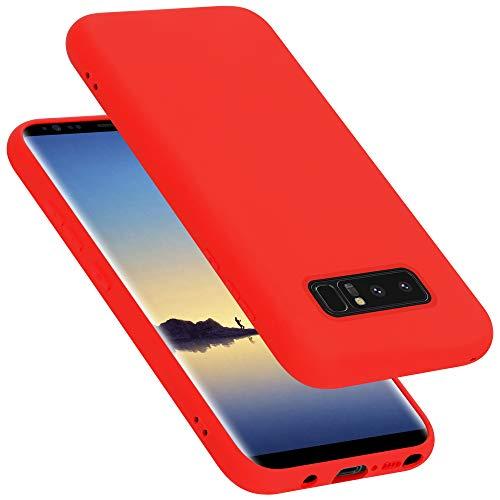 Cadorabo Custodia per Samsung Galaxy Note 8 in Liquid Rosso - Morbida Cover Protettiva Sottile di Silicone TPU con Bordo Protezione - Ultra Slim Case Antiurto Gel Back Bumper Guscio