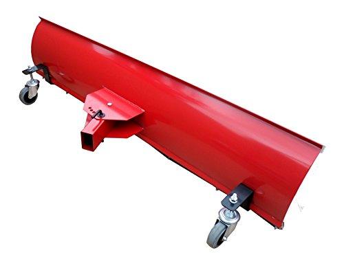 BEBV–Hoja quitanieves universal con ruedas 150x 40cm Rojo Tractores Cortacésped, quads y ATV de tractor