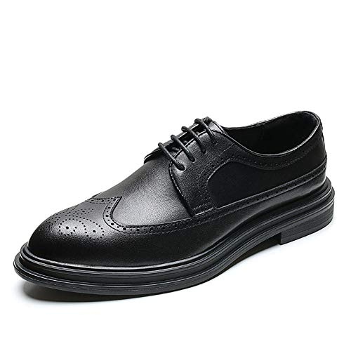 Ballyzess Zapatos De Cordones para Hombre Zapatos Zapatos De Cuero Ocasionales De Negocios De Cuero De Otoño E Invierno Zapatos De Vestir Puntiagudos para Hombres-44