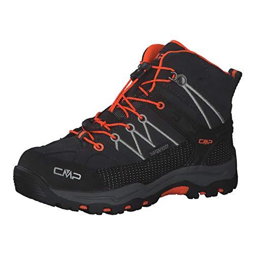 CMP Rigel Mid Trekking Shoe Wp Walking-Schuh, Antracite-Flash Orange, 39 EU