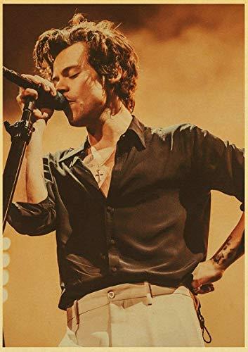 DYCUN Berühmte British Singer Harry-Stil-Plakat Retro-Plakat-Wand-Poster Für Heimraum/Bar-Malerei (Color : 8, Size : No Frame 30x40cm)