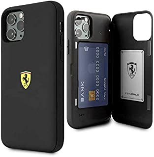 Ferrari On Track PC/TPU Case with Cardslot & Magnetic Clos for iPhone 11 Pro - Black