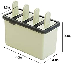 MINGTAI 4 Cell Ice Cream Mold Manual Popsicle Classic Mold Tray Maker PP Frozen Ice Cube Lolly Mould Kitchen Ice Cream Coo...