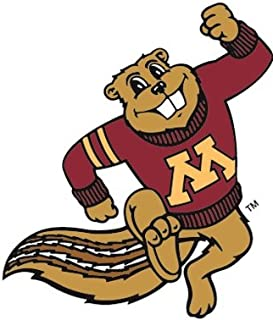 5 inch Goldy Gopher UMn University of Minnesota Golden Gophers Logo Removable Wall Decal Sticker Art NCAA Home Room Decor 5 1/2 x 4 inches