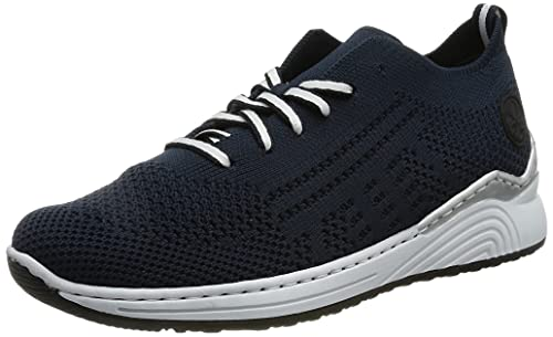 Rieker Damen N6703 Sneaker, Blau, 39 EU