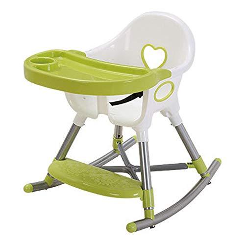 Kinder Schreibtische Infant Faltbarer Hochstuhl Mit Abnehmbarem Tablett Travel Booster Sitz Fütterung Esszimmerstuhl Baby Hochstuhl Füttern Reisekinderstuhl ( Farbe : Grün , Größe : 48*60*61cm )