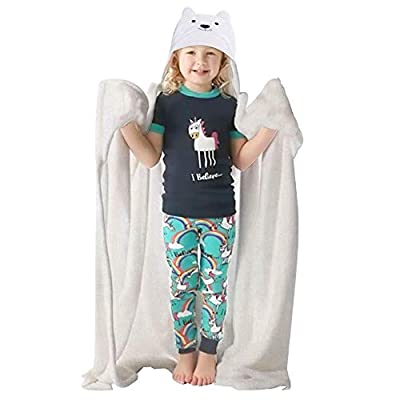 Love At First Sight Blanket Hoodie for Kids - Large Hooded Blanket Wearable Animal Throw Unicorn Blanket for Kids - Throw Blankets with Hood - Hoodie Blankets for Kids - Throw Blankets with Hood