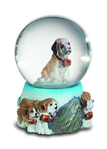 impexit Boule Neige Chien Saint Bernard en resine 6,5/4,5/4,5 cm
