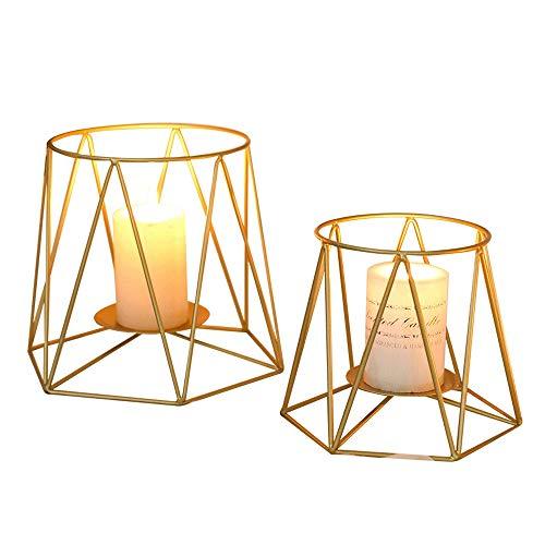 Chyuanhua Kandelaar 2 Wees creatief decoratieve ornamenten bruiloft rekwisieten Noordse stijl kroonluchter Candlelight-diner groot voor housewarming of bruiloftsverjaardag
