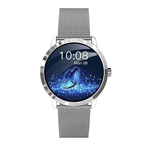 Reloj Inteligente para teléfonos Android Compatible con Samsung iPhone, Reloj Inteligente Resistente al Agua con Seguimiento del sueño con Monitor de frecuencia cardíaca y presión Arterial
