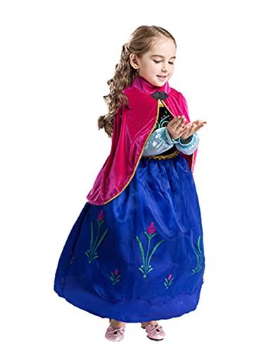 ELSA & ANNA® Princesa Disfraz Traje Parte Las Niñas Vestido (Girls Princess Fancy Dress) ES-DRESS308-SEP (4-5 Años, ES-SEP308)