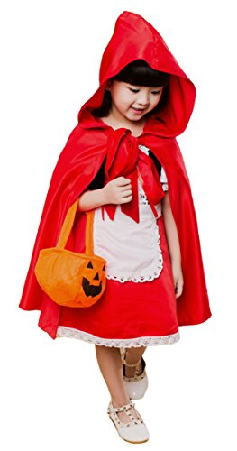 Reba's Red Dress Costumes - Girls Red Cloak & Dress Costume